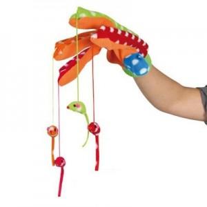Trixie Guante de Juego interactivo con 4 ratones colgantes para hurones
