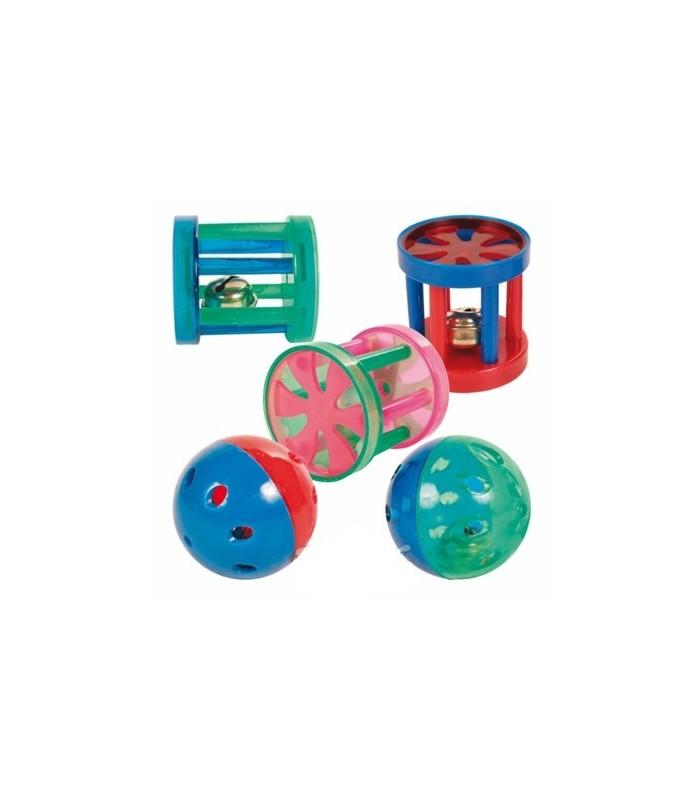 Trixie juguete plastico con cascabel pelota cilindro for Juguetes de plastico