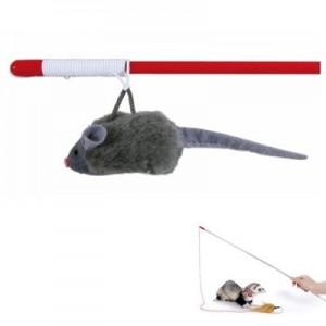 Trixie Juguete interactivo Vara de juego con ratón y sonido para hurones