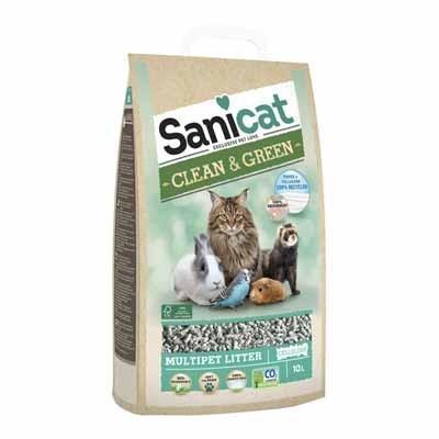 Sanicat Lecho de Papel Clean & Green para hurones