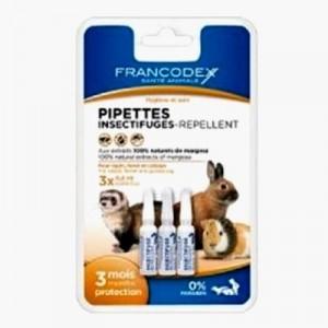 Francodex Pipetas Antiparasitarias para hurones - 3 UDS