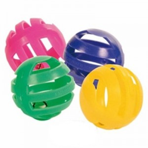 Trixie Kit de 4 Pelotas sonoras multicolor para hurones
