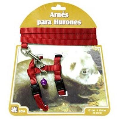 ICA Arnés de nylon con correa para hurones